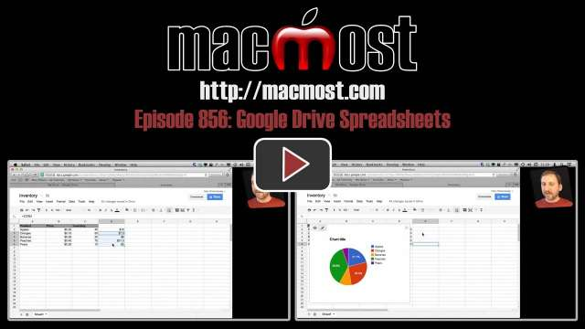 MacMost Now 856: Google Drive Spreadsheets
