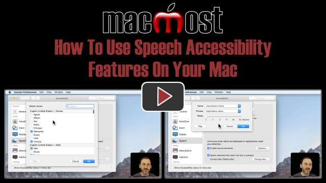 How To Use Speech Accessibility Features On Your Mac