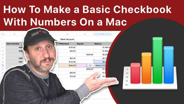 How To Make a Basic Checkbook Spreadsheet With Numbers On a Mac