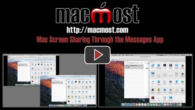Mac Screen Sharing Through the Messages App