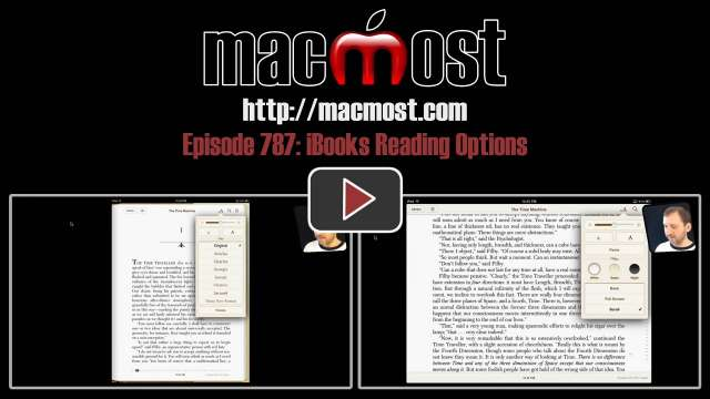 MacMost Now 787: iBooks Reading Options