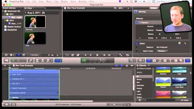 MacMost Now 590: Blurring A Moving Face in Final Cut Studio Pro X