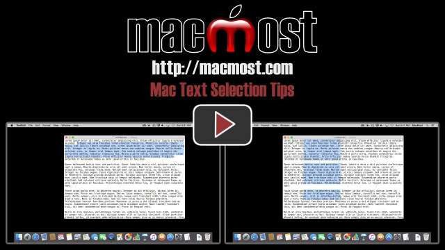 Mac Text Selection Tips