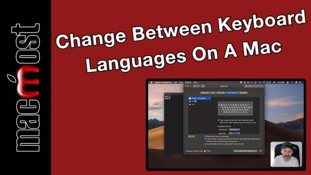 How To Change Between Keyboard Languages On A Mac