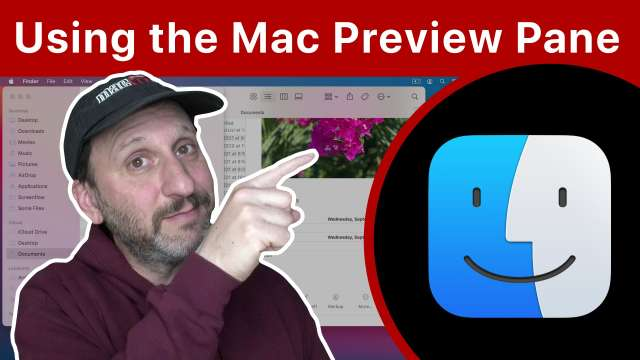 Using the macOS Finder Preview Pane