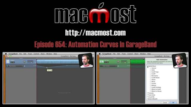 MacMost Now 654: Automation Curves In GarageBand