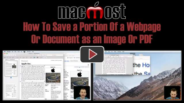 How To Save a Portion Of a Webpage Or Document as an Image Or PDF