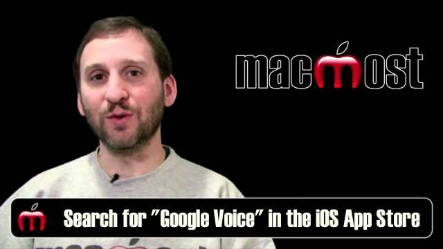 MacMost Now 510: Free iPhone SMS Text Messaging Using Google Voice