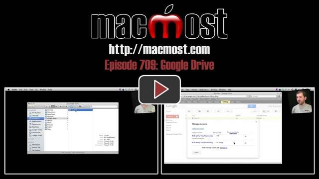MacMost Now 709: Google Drive
