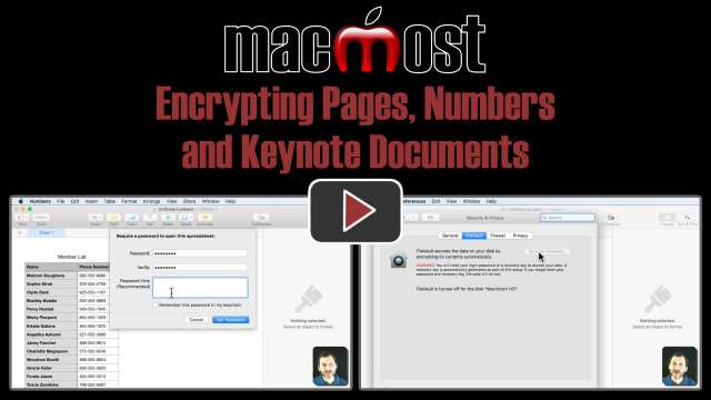 Encrypting Pages, Numbers and Keynote Documents