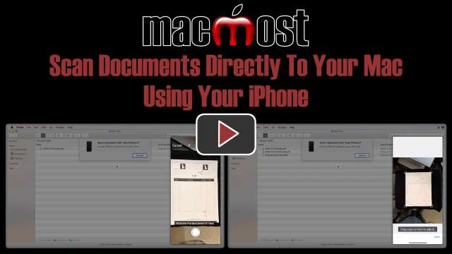 Scan Documents Directly To Your Mac Using Your iPhone