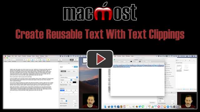 Create Reusable Text With Text Clippings