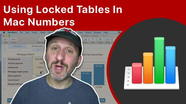 Using Locked Tables In Mac Numbers