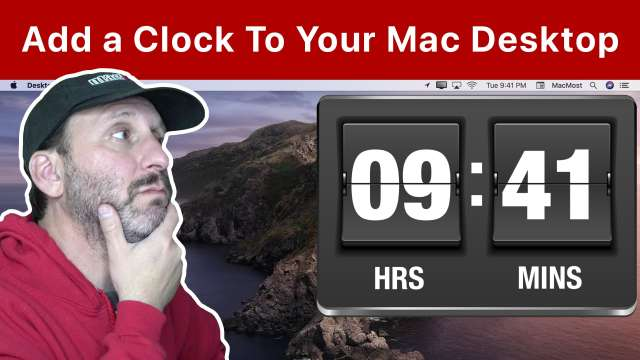 How To Add a Clock To Your Mac Desktop