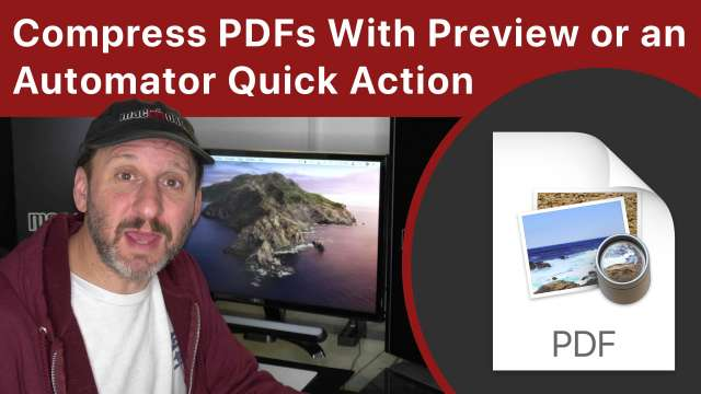 Compress PDFs On Your Mac With Preview or an Automator Quick Action