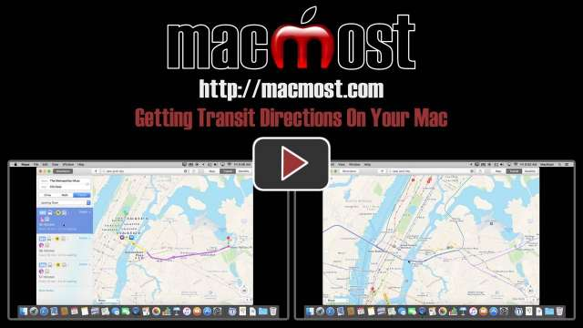 Getting Transit Directions On Your Mac