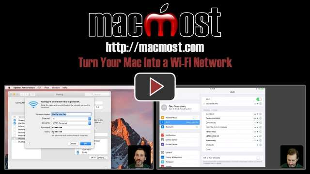 Turn Your Mac Into a Wi-Fi Network