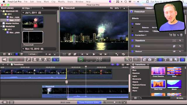 MacMost Now 599: Using Final Cut Pro X Transitions
