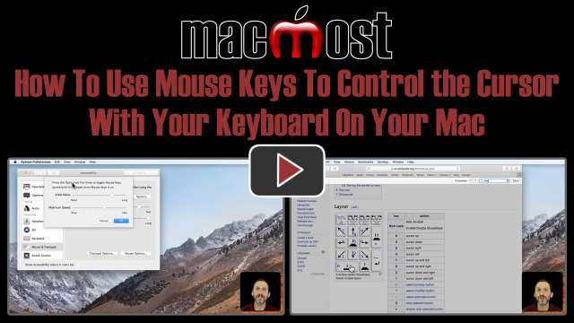 How To Use Mouse Keys To Control the Cursor With Your Keyboard On Your Mac
