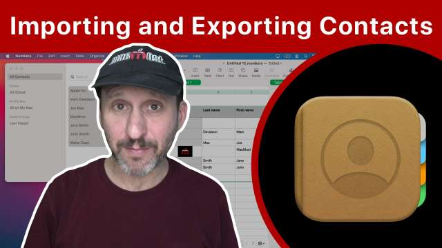 Importing and Exporting Contacts On a Mac