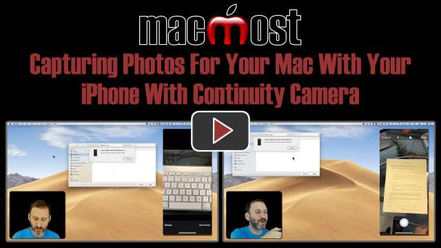 Capturing Photos For Your Mac With Your iPhone Using Continuity Camera