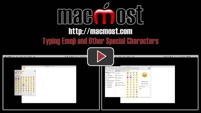 Typing Emoji and Other Special Characters