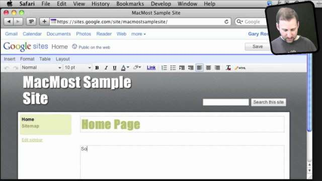 MacMost Now 567: iWeb Alternative: Google Sites
