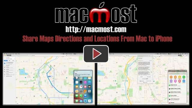 Share Maps Directions and Locations From Mac to iPhone