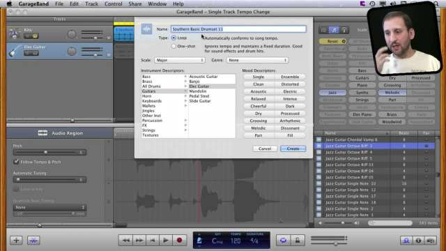 MacMost Now 601: Changing the Tempo Of Tracks in GarageBand 11
