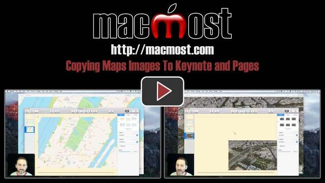 Copying Maps Images To Keynote and Pages