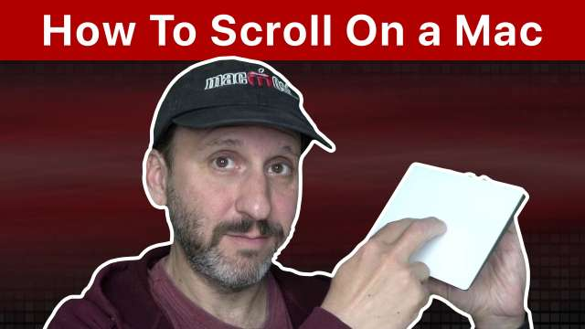 How To Scroll On a Mac