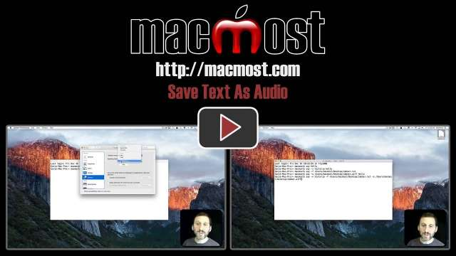 Save Text As Audio