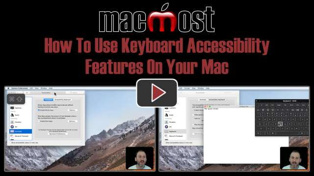 How To Use Keyboard Accessibility Features On Your Mac