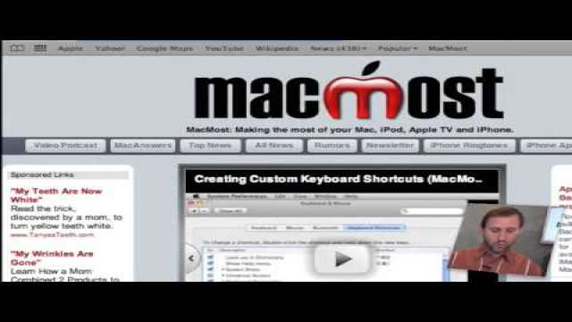 MacMost Now 245: Building a MobileMe Web Site Without iWeb