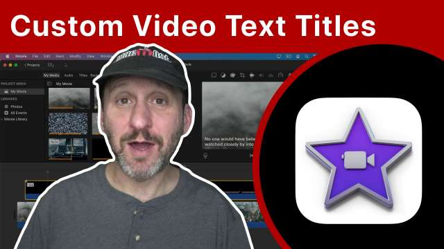 Create Custom Video Text Captions For iMovie With Keynote