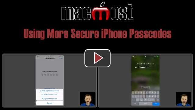 Using More Secure iPhone Passcodes