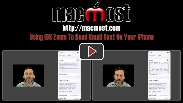 Using iOS Zoom To Read Small Text On Your iPhone