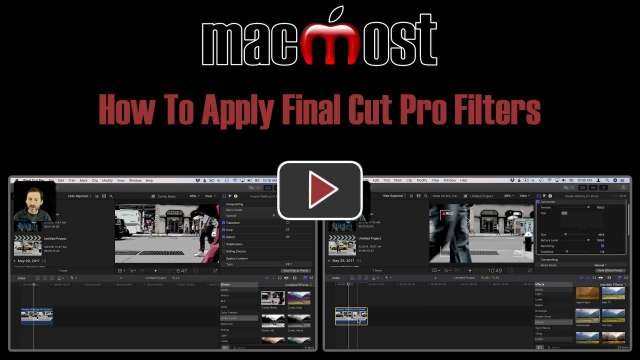 How To Apply Final Cut Pro Filters