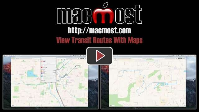 View Transit Routes With Maps