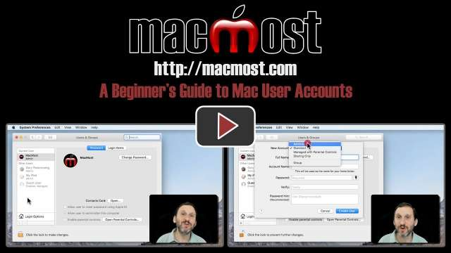 A Beginner's Guide to Mac User Accounts