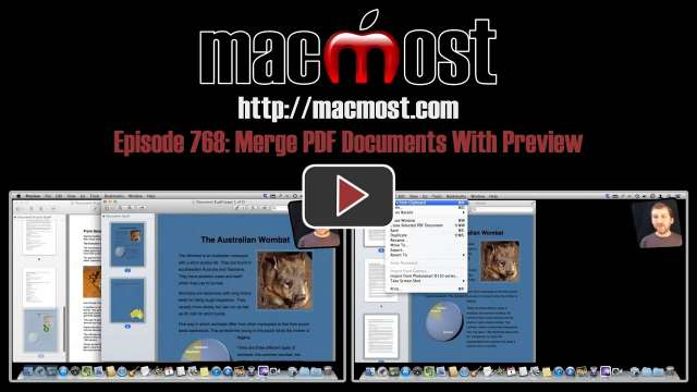 MacMost Now 768: Merge PDF Documents With Preview