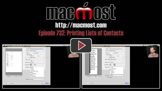 MacMost Now 732: Printing Lists of Contacts
