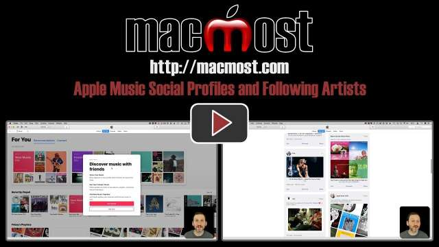 Apple Music Social Profiles and Following Artists