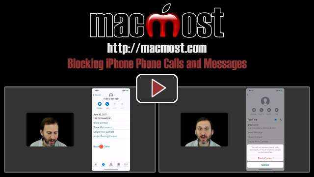 Blocking iPhone Phone Calls and Messages