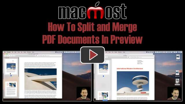 How To Split and Merge PDF Documents In Preview