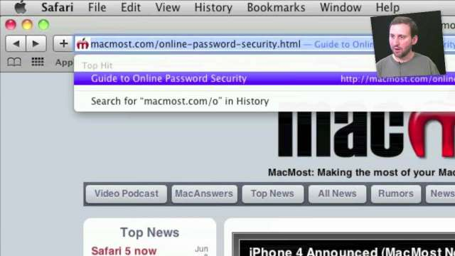 MacMost Now 408: Safari 5 New Features