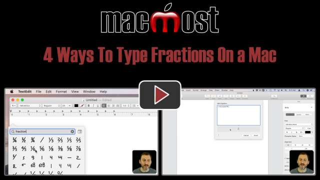 4 Ways To Type Fractions On a Mac