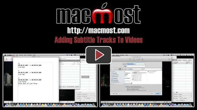 Adding Subtitle Tracks To Videos
