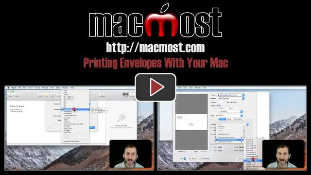 Printing Envelopes With Your Mac