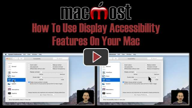 How To Use Display Accessibility Features On Your Mac